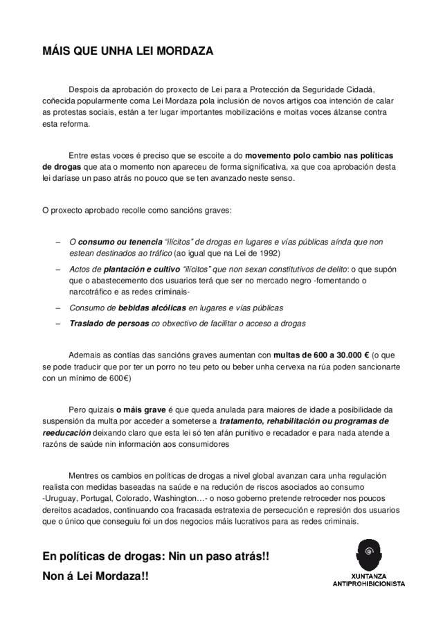 MANIFESTO LEI MORDAZA